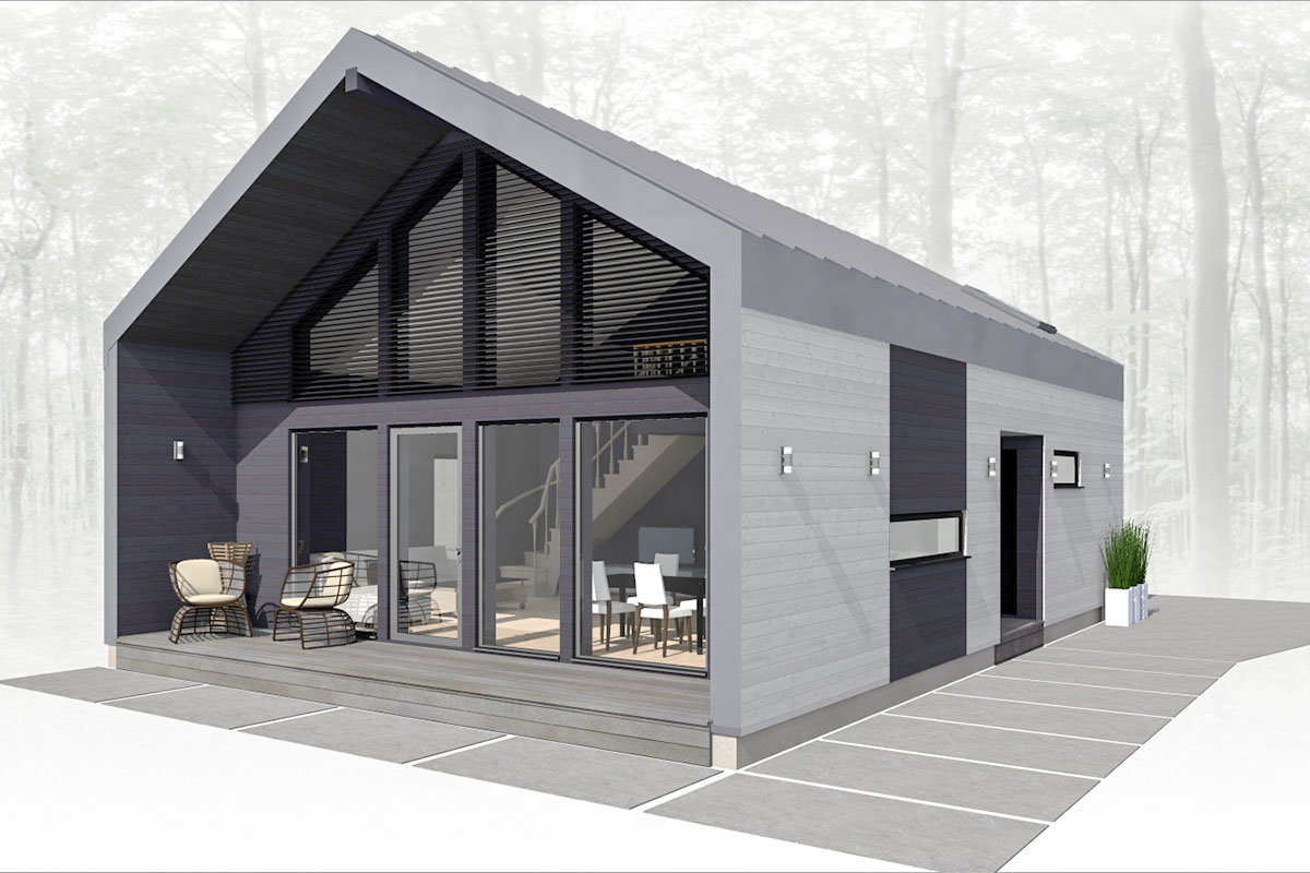 VITBUVE prefabricated wooden house design - VIT-102
