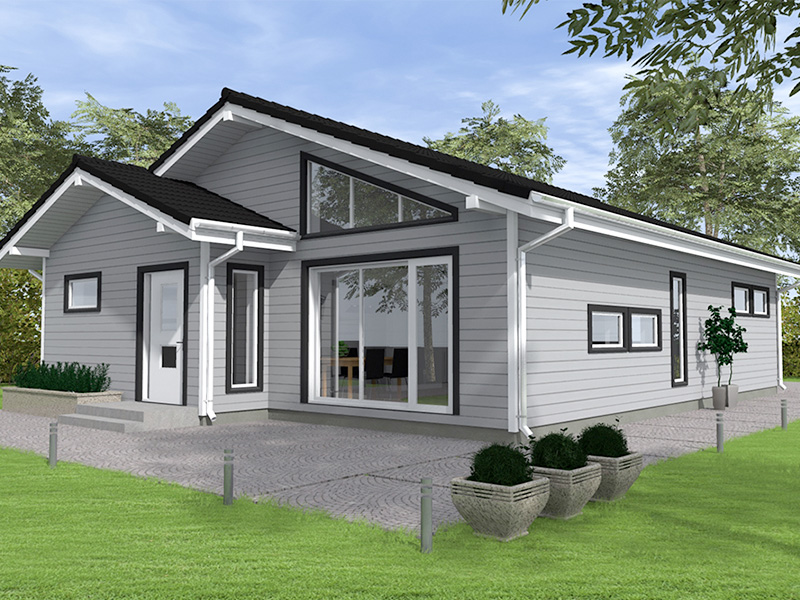 Prefabricated timber frame house design - Lagan