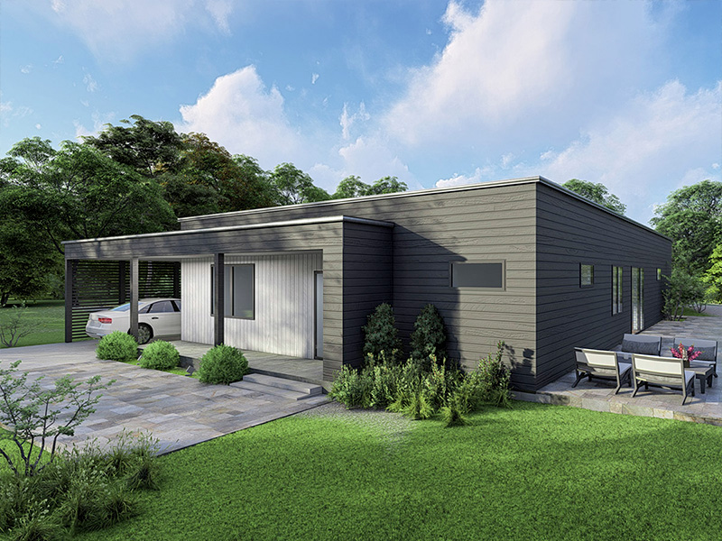 Prefabricated timber frame house design - X-128